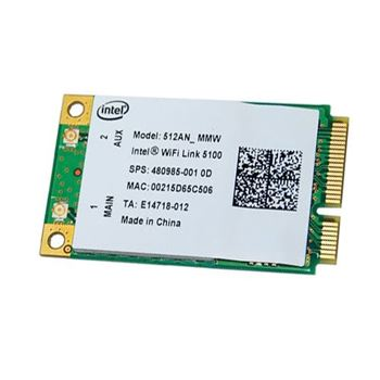 Picture of Intel Wireless WiFi Link 5100 IEEE 802.11a/b/g/Draft-N Network Mini PCIe Laptop Wireless Card -  PCIe* Mini Card