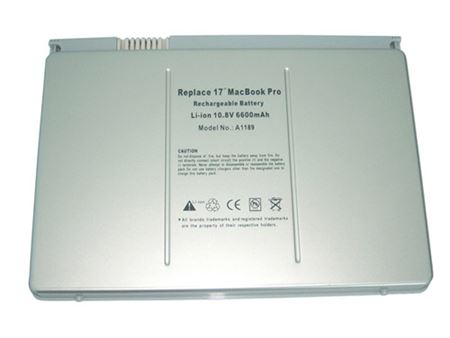 Picture of NEW replacement battery for APPLE MacBook PRO 17 A1189